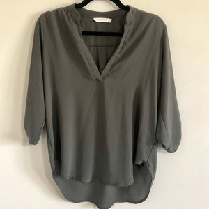 Olive green roll tab tunic by Lush!